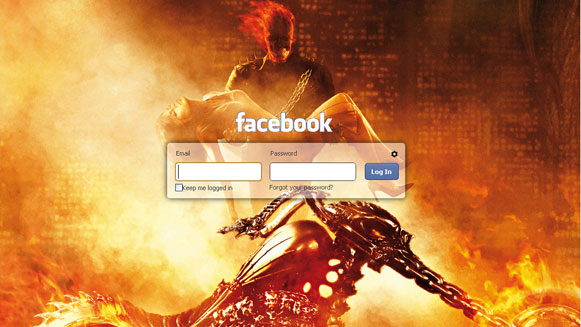 Customize Facebook Login Page Adding Background Image